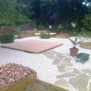Jardin minéral et terrasse bois, La Turballe