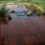 Terrasse bois Ipé et bassin, Guérande
