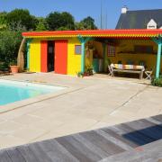 Abri de piscine ambiance créole, Guérande