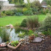 Bassin dans un jardin champêtre, Rezé