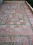 Carrelage en pierre, calcaire d'Iran et mosaïque de gneiss, paysagiste La Baule