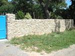 Muret en pierre maçonnée, granit, paysagiste Saint Molf