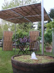 Fontaine avec fougères d'eau, paysagiste Courson