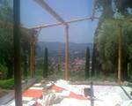 Pergola tout en bambou, Antibes