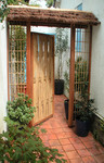 Porte de jardin en bambou, Paysagiste La Baule