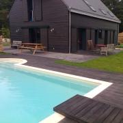 Paysagiste, plage, piscine, terrasse, bois, saint lyphard