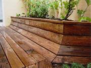 Terrasse,bois,patio,jardinières,paysagiste,Olonnes sur mer