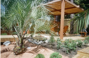 pergola, bois, bambou, paysagiste, bambou