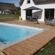 plage, piscine, terrasse, bois, paysagiste, guérande