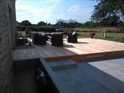 terrasse bois robinier faux acacia guérande