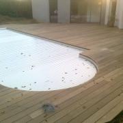 Plage de piscine en bois Ipé, Saint Nazaire